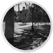 Town Square Round Beach Towel