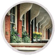 Townhouse Row - London Round Beach Towel