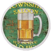 Township Saloon Round Beach Towel