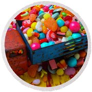 Toy Truck Full Of Candy Round Beach Towel