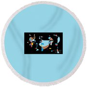 Toys On Parade Round Beach Towel by Nancy Kane Chapman