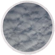 Trace Of Airplane Round Beach Towel