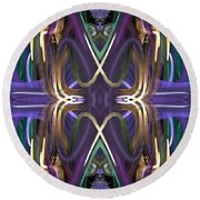 Tracers Round Beach Towel