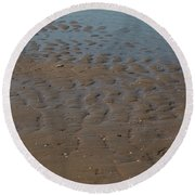 Round Beach Towel featuring the photograph Traces by Ana Mireles