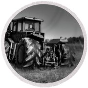 Tractor 2 Round Beach Towel