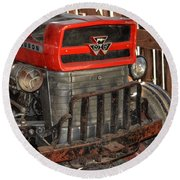 Tractor Grill  Round Beach Towel