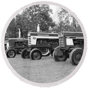 Round Beach Towel featuring the photograph Tractor Show 2016 by Rick Morgan