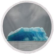 Iceberg - Tracy Arm Fjord Round Beach Towel