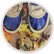 Trail Mix Round Beach Towel