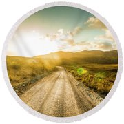 Trail To Trial Round Beach Towel