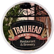 Trailhead Brewing Company Round Beach Towel