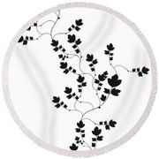 Trailing Leaves Round Beach Towel