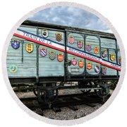 Train De La Reconnaissance Francaise - Ogden - Utah Round Beach Towel by Gary Whitton