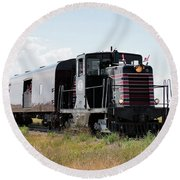 Train Tour Round Beach Towel