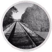Train Trail Round Beach Towel