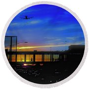 Trains Planes And Automobiles  Round Beach Towel