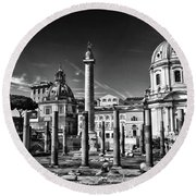 Trajan's Forum - Forum Traiani Round Beach Towel