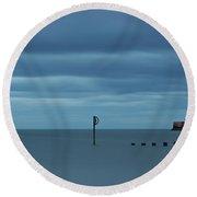 Tranquil Aberdeen Beach _ Pano Round Beach Towel
