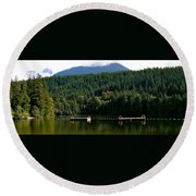 Tranquil Alice Lake Round Beach Towel