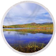 Round Beach Towel featuring the photograph Tranquil by Chad Dutson