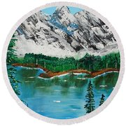 Tranquil Countryside  Round Beach Towel