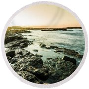 Tranquil Cove Round Beach Towel