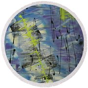 Tranquil Dream I Round Beach Towel by Cathy Beharriell
