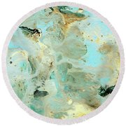 Tranquil Escape- Abstract Art By Linda Woods Round Beach Towel