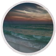 Tranquil Evening Round Beach Towel