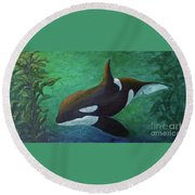 Tranquil Force Round Beach Towel