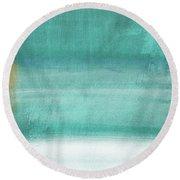 Tranquil Horizon- Art By Linda Woods Round Beach Towel
