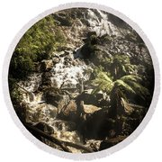 Tranquil Mountain Canyon Round Beach Towel