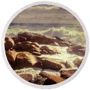 Tranquil Ocean Views Round Beach Towel