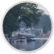 Tranquil River Round Beach Towel