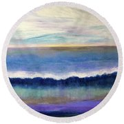 Tranquil Seas Round Beach Towel