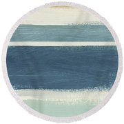 Tranquil Stripes- Art By Linda Woods Round Beach Towel