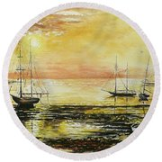 Tranquil Tide Round Beach Towel
