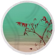 Tranquil View Round Beach Towel