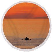 Round Beach Towel featuring the photograph Tranquililty by Linda Hollis