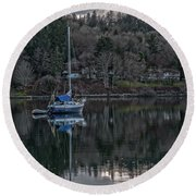 Round Beach Towel featuring the photograph Tranquility 9 by Timothy Latta