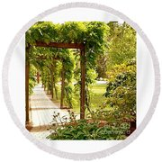 Tranquility Round Beach Towel by Becky Lupe