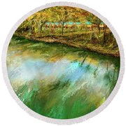 Tranquility Cottages - Anglers White River Resort Arkansas - Mountain View, Arkansas Round Beach Towel