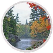 Autumn Tranquility Round Beach Towel
