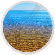 Round Beach Towel featuring the photograph Tranquility by Kathleen Sartoris
