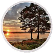 Round Beach Towel featuring the photograph Tranquility by Rose-Marie Karlsen