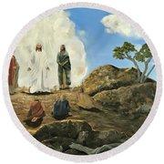 Transfiguration Of Christ Round Beach Towel