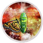 Round Beach Towel featuring the digital art Transformed By The Truth by Dolores Develde