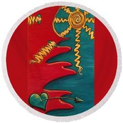 Transilience Round Beach Towel