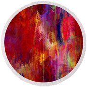 Transition - Abstract Art Round Beach Towel