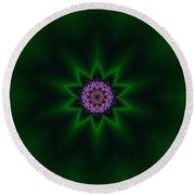 Round Beach Towel featuring the digital art Transition Flower 10 by Robert Thalmeier